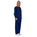 Superior Uniform Group 7099 Unisex Navy No Pocket Elastic Waist Scrub Pants
