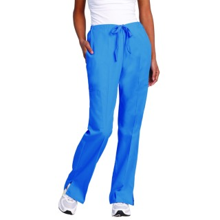 Superior Uniform Group 7104 Ladies Blueberry Drawstring Flare Cargo Pants