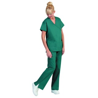 Superior Uniform Group 7133 Ladies Peacock Green Mock Crossover Tunics