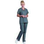Superior Uniform Group 7155 Ladies Pewter/Black Contrast Stitch Tunic