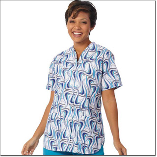 Superior Uniform Group 7205 Ladies Water Dance FP Snap Sport Tunic