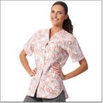 Superior Uniform Group 7208 Ladies Pinwheel Salmon FP Snap Sport Tunic