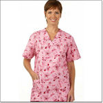 Superior Uniform Group 7230 Ladies FP Love, Hope, Care V-Neck Tunic