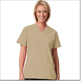 Superior Uniform Group 7236 Ladies Tan FP V-neck Tunic