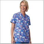 Superior Uniform Group 7267 Ladies Deco Squares FP V-neck Tunic