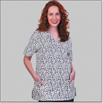 Superior Uniform Group 7295 Ladies FP Petal Pushers V-neck Tunic