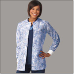 Superior Uniform Group 7378 Ladies Pinwheel Ciel FP Warm Up