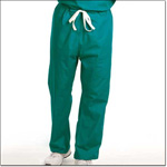 Superior Uniform Group 7716 Unisex FP Teal Reversible Drawcord Scrub Pants