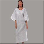 Superior Uniform Group 771 Garnet Fossil Angle Back Patient Gown