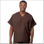Superior Uniform Group 78004 Unisex FP Chocolate Fashion Scrub Shirt