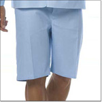 Superior Uniform Group 7837 Light Blue Sheeting Drawcord Pajama Shorts