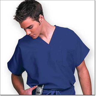 Superior Uniform Group 78720 Unisex FP Cobalt Fashion Scrub Shirt