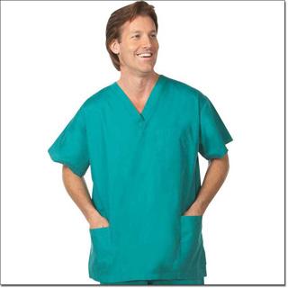 Superior Uniform Group 78766 Unisex FP Teal Scrub Shirt 3 Pockets