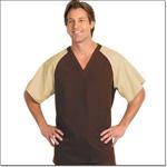 Superior Uniform Group 78772 Unisex FP Chocolate/Tan Raglan Sleeve Scrub Shirt