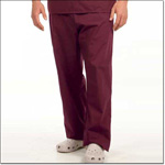 Superior Uniform Group 78890 Unisex Burgundy FP Long Scrub Pant