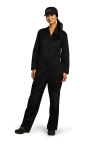 Superior Uniform Group 81073 Unisex Black P/C Twl LS Jumpsuit/No Pocket