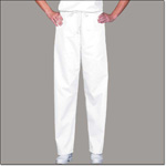 Superior Uniform Group 811 Unisex White 100% Cotton Reversible Drawcord Scrub Pant
