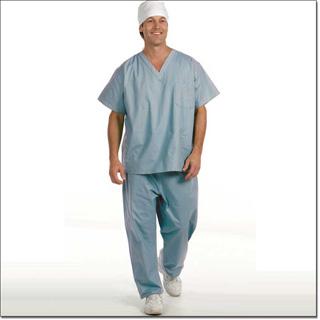 Superior Uniform Group 814 Unisex Misty 100% Cotton Reversible Cord Scrub Pant