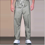 Superior Uniform Group 888 Unisex FB Gray Reversible Drawcord Scrub Pants