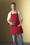 Ash City 55001 Adjustable Bib Apron-Full Length With Pockets