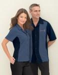 Ash City 87017 Men's Knit Ottoman Color-Block Camp Shirt