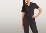 Barco 8204 2 Pocket S/S Drawstring Jumpsuit