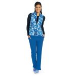 Barco 5407 2pkt Shirred Printed Zip Vest