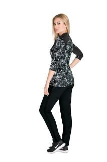Barco BWK802 Crewnk 3/4slv Printed Knit Top