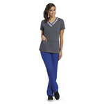 Barco 41399 3 Pocket Color Block V-Neck