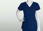 Grey's Anatomy 41394 2 Pocket Laser Cut V-Neck