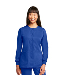 Grey's Anatomy 4450 4 Pocket Rnd Neck Cuffed Warm Up