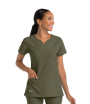 Grey's Anatomy Signature 2121 2 Pocket Notch Yoke Neck