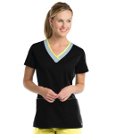 Grey's Active 41399 3 Pocket Color Block V-Neck