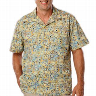 Blue Generation BG3102 Adult Tucan Print Camp Shirt