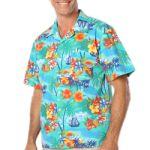 Blue Generation BG3103 Tropic Print Camp Shirt