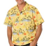 Blue Generation BG3104 Cocktail Print Camp Shirt