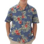 Blue Generation BG3105 Adult Floral Print Camp Shirt