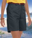Blue Generation BG6002S Ladies Teflon Twill Flat Front Short
