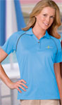 Blue Generation BG6220 Ladie's Wicking Polo With Contrast Piping