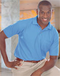 Blue Generation BG7206 Men's Short Sleeve Superblend Pique With Pocket
