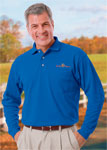 Blue Generation BG7208 Adult Superblend L/S Pocketed Polo