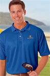 Blue Generation BG7219 Men's Solid Moisture Wicking Polo