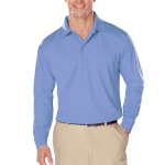 Blue Generation BG7225 Adult Long Sleeve Snag Resistant Moisture Wicking Polo