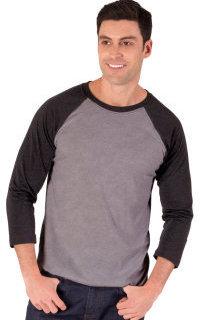 Blue Generation BG7307 Adult 3/4 Sleeve Triblend Baseball T-Shirt