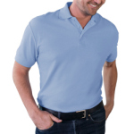 Blue Generation BG7500T Mens Soft Touch Pique S/S Polo