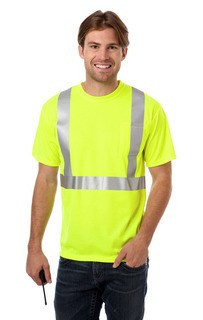 Blue Generation BG7511 Adult Hi-Visibility Tee with Reflective Tape