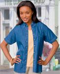 Blue Generation BG8202S Ladies S/S 100% Cotton Denim Shirt