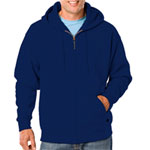 Blue Generation BG9302Z Adult Fleece Zip Front Hoodie