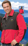 Mens Colorblock Micro Fleece Jacket