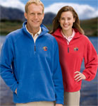 Blue Generation BG9952 Adult Polar Fleece Long Sleeve 1/2 Zip Pullover